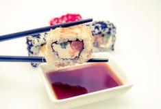 Uma parte de sushi Fotografia de Stock Royalty Free