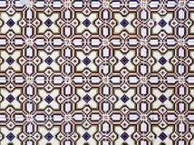 Uma parte de um azulejo heterogêneo velho em Portugal Foto de Stock