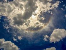 Uma parte de um halo solar foto de stock