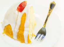 Uma parte do bolo III da libra do queijo Imagem de Stock