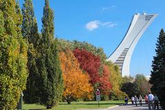 Uma parte do estádio olímpico. Fotos de Stock Royalty Free