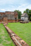 Uma parte do palácio da história de Phra Narai é tão bonita Imagem de Stock Royalty Free