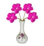 Decoração da casa do vaso de flor do desenhista de HDR Imagens de Stock Royalty Free