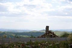 Uma pastagem da cruz da estrada Foto de Stock Royalty Free
