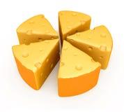 Uma paz do queijo Imagem de Stock Royalty Free