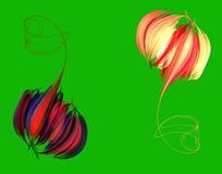 Uma peônia cor-de-rosa do botão abstrato ilustração stock