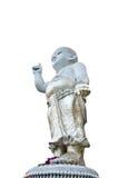 Uma pediatria perfeita da estátua no fundo branco. Imagem de Stock