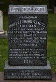 Uma pedra grave no local grave titânico fotografia de stock royalty free