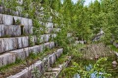 Uma pedreira de mármore abandonada Imagens de Stock