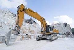 Uma pedreira do mármore de Carrara Foto de Stock