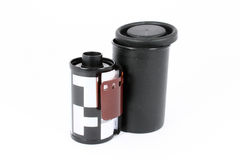 Uma película da câmera de 35 milímetros Fotografia de Stock