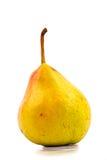 Uma pera amarela isolada Foto de Stock Royalty Free