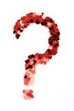 Uma pergunta do amor imagens de stock royalty free