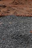 Uma pilha da areia de pedra da American National Standard imagem de stock