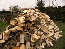 Uma pilha da madeira Fotografia de Stock Royalty Free