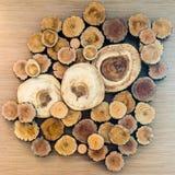 Uma pilha da madeira cortada Fotografia de Stock