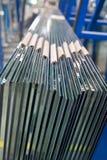 Uma pilha das folhas de vidro Fotografia de Stock Royalty Free