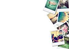 Uma pilha das fotografias com espaço para seu logotipo ou texto fotografia de stock royalty free
