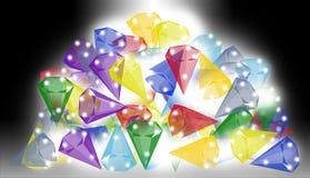 Uma pilha das gemas Imagens de Stock Royalty Free