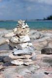 Uma pilha das rochas Fotos de Stock Royalty Free
