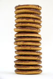 Uma pilha de biscoitos Fotos de Stock Royalty Free