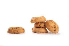Uma pilha de biscoitos doces no fundo branco Foto de Stock Royalty Free