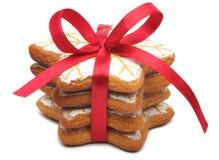 Uma pilha de bolinhos do Natal fotografia de stock royalty free