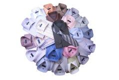 Uma pilha de camisas brandnew dos homens Fotografia de Stock
