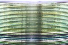 Uma pilha de CD da música imagens de stock
