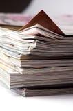 Uma pilha de compartimentos fotografia de stock royalty free