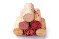 Uma pilha de cortiça do vinho Fotos de Stock Royalty Free