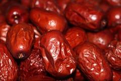 Uma pilha de datas chinesas vermelhas Fotografia de Stock Royalty Free