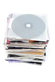 Uma pilha de discos Imagem de Stock