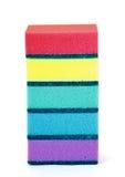 Uma pilha de esponjas isoladas Fotografia de Stock Royalty Free