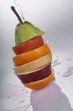 Uma pilha de frutos cortados Imagem de Stock Royalty Free