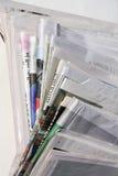 Uma pilha de jornais Fotos de Stock Royalty Free