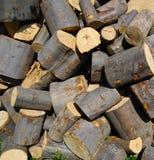 Uma pilha de madeira Fotografia de Stock Royalty Free