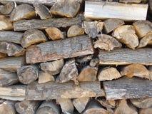 Uma pilha de madeira Imagens de Stock