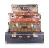 Uma pilha de malas de viagem velhas Foto de Stock Royalty Free