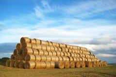 Uma pilha de pacotes da palha Imagem de Stock Royalty Free
