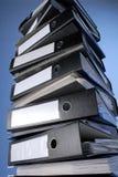 Uma pilha de pastas de arquivos Fotografia de Stock