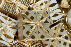 Uma pilha de presentes do Natal Imagem de Stock