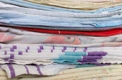 uma pilha de roupa passada Foto de Stock Royalty Free