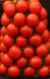 Uma pilha de tomates maduros frescos Fotografia de Stock