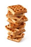 Uma pilha de Waffles Fotos de Stock Royalty Free