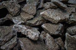 Uma pilha do concreto destruído Imagens de Stock Royalty Free