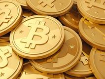 Uma pilha do cryptocurrency - bitcoins Fotografia de Stock Royalty Free