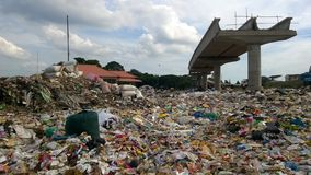 Uma pilha do desperdício Foto de Stock