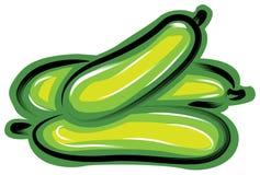 Uma pilha do pepino ilustração stock