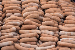 Uma pilha do tamarindo doce Imagens de Stock